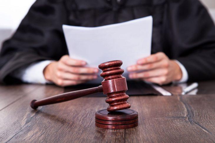 Судья читает материал